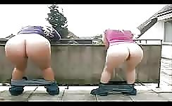 Girls with big butts shitting
