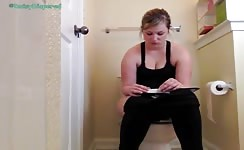 Nice college girl pooping