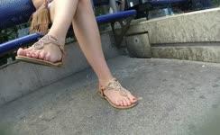 Sexy milf legs crossed toes amateur voyeur 2