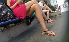 SEXY MILF LEGS CROSSED TOES AMATEUR VOYEUR CANDID 13