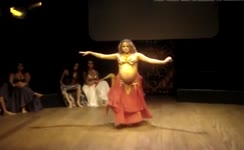 Pregnant girl does a sexy dance