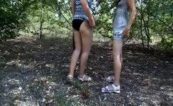 Forest lesbian scat