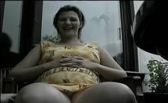 Pregnant Lady Gets Pleasured