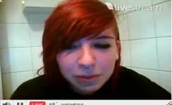 Redhead emo teen