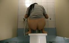 Doing enema so she can poop