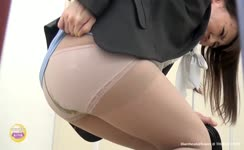 Filled brown pantyhose with shit