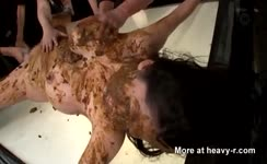 She gets fucked in a hardcore way
