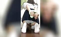 Asian Girl With Hands Tied Wet Her Panties