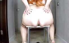 Redhead babe shits on slave